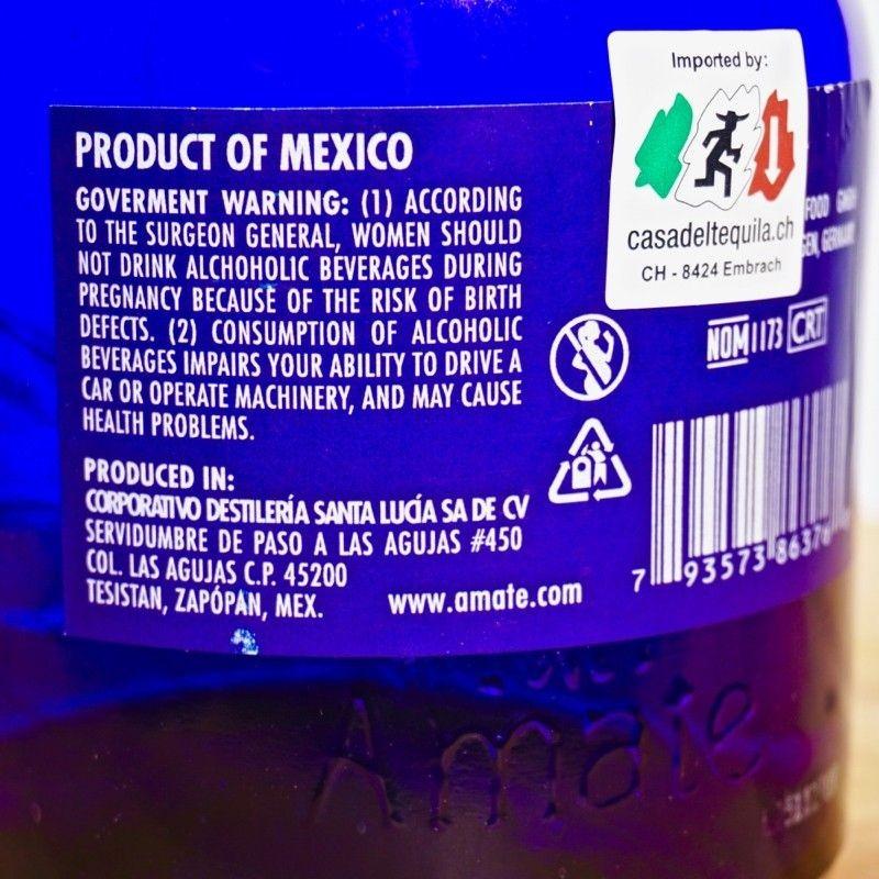 Tequila - Amate Reposado / 70cl / 40% Tequila Reposado 54,00CHF